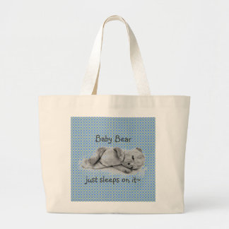 """""""BABY BEAR JUST SLEEPS ON IT""""~TOTE CANVAS BAGS"""