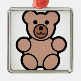 baby bear metal ornament
