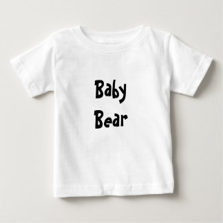 Baby Bear Mother's / Father' Day Gift - Black text Shirt