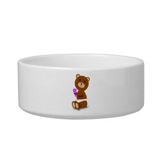 Baby Bear Pet Bowl Cat Water Bowl