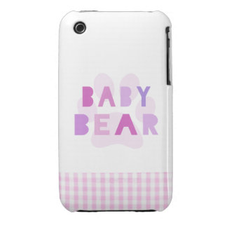 Baby bear - pink iPhone 3 cover