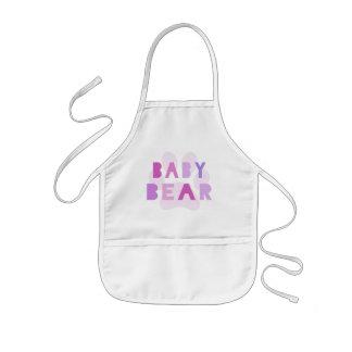 Baby bear - pink kids' apron