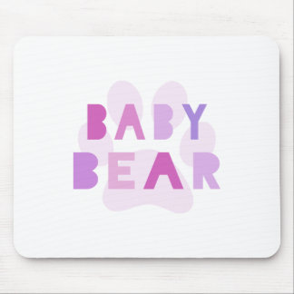 Baby bear - pink mouse pad
