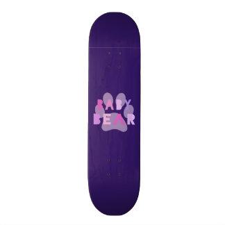 Baby bear - pink custom skate board