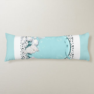 Baby bear sleeping with balloons body pillow