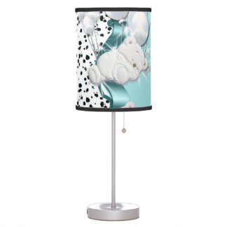 Baby bear sleeping with balloons desk lamps