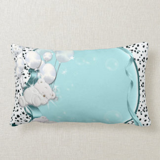 Baby bear sleeping with balloons pillow