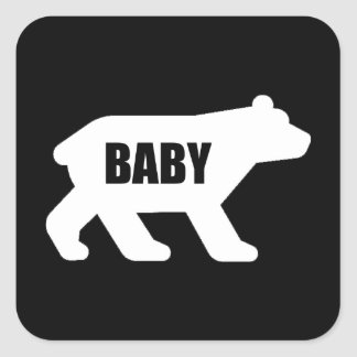 Baby Bear Square Sticker