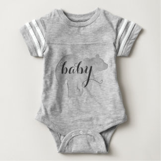 Baby Bear Watercolor Bodysuit