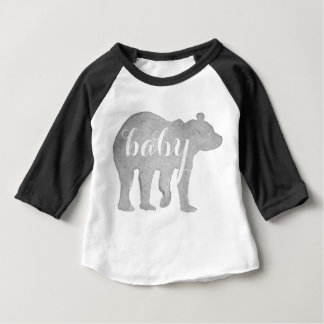 Baby Bear Watercolor Infant Baseball Tee