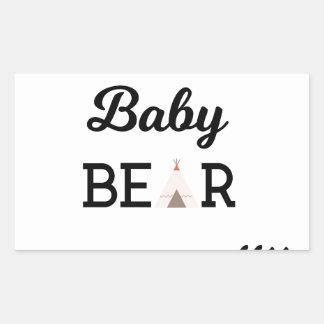 Baby Bear with Arrows Rectangular Sticker