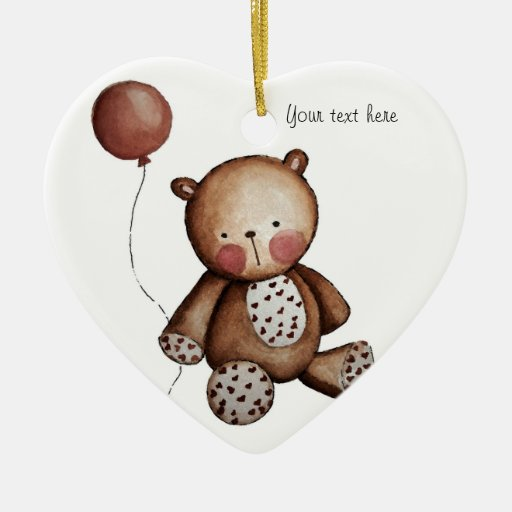 Baby bear with Balloon Ornament