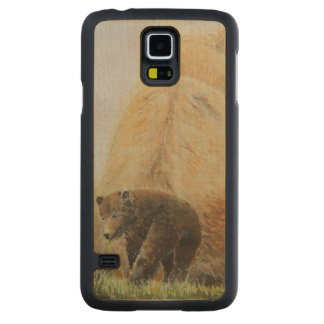 Baby Bear with Mama Bear Carved® Maple Galaxy S5 Case