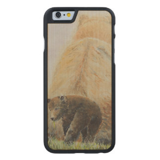 Baby Bear with Mama Bear Carved® Maple iPhone 6 Slim Case
