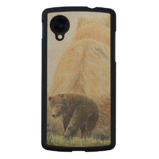 Baby Bear with Mama Bear Carved® Maple Nexus 5 Case