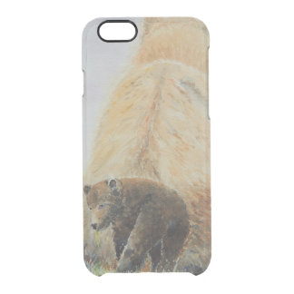 Baby Bear with Mama Bear Clear iPhone 6/6S Case