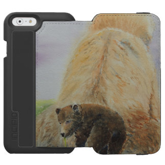 Baby Bear with Mama Bear iPhone 6/6s Wallet Case