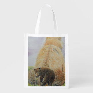 Baby Bear with Mama Bear Reusable Grocery Bags