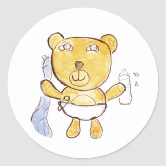 baby bear with milk bottle stickers