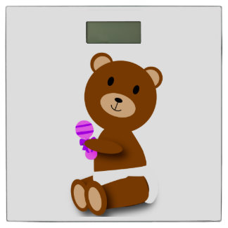 Baby Bear with Rattle Bathroom Scale