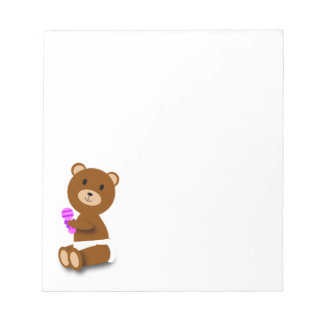 Baby Bear with Rattle Notepad