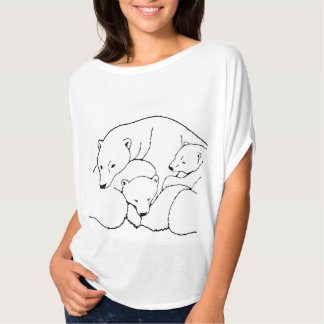 Baby Bears T-shirt Women's Plus Size Bear Shirt