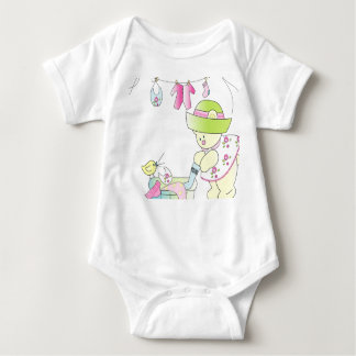 Baby - Beary Busy Baby Girl Baby Bodysuit