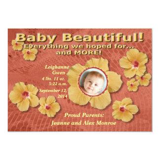 Baby Beautiful Birth Announcement