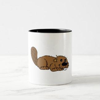 Baby Beaver Two-Tone Coffee Mug