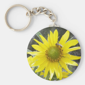 Baby Bee and the Flower Keychain