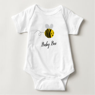 PERSONALISED BUMBLE BEE BABY VEST BABYGROW CLOTHING SHOWER GIFTS BOY GIRL HONEY