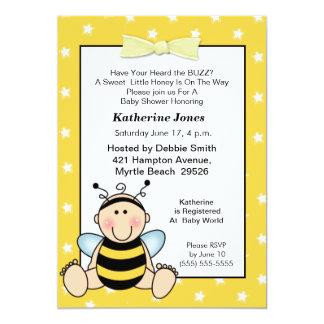 "Baby Bee Baby Shower  Invitation 5"" X 7"" Invitation Card"