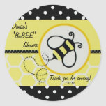 Baby Bee Baby Shower Label Classic Round Sticker