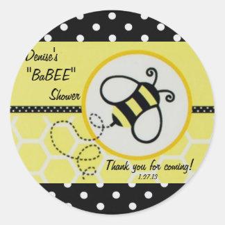 Baby Bee Baby Shower Label Sticker