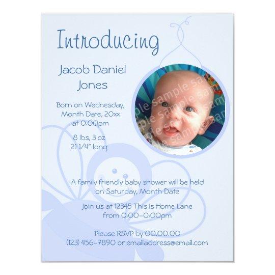 Baby Bee Blue Card