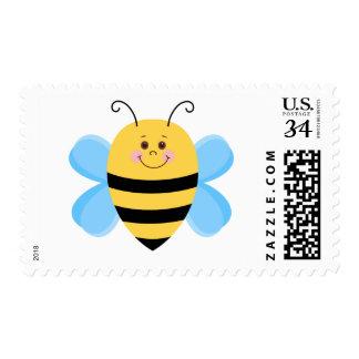 Baby Bee Cartoon Illustration Postage