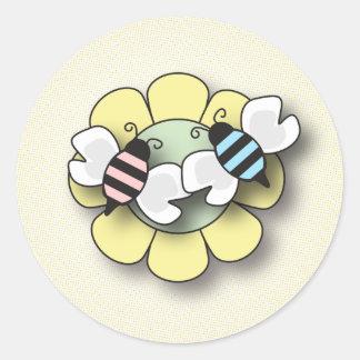 Baby Bee Twins Boy & Girl Sticker