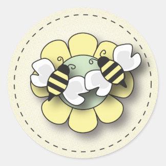 Baby Bee Twins Gender Neutral Sticker