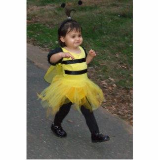Baby bee walking photo statuette