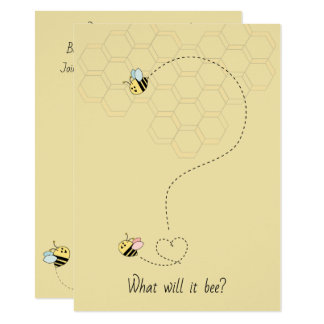 Baby Bees Gender Reveal Card