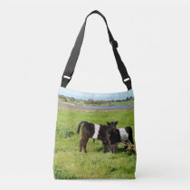 Baby Belted Galloway Cows In Country, Crossbody Bag