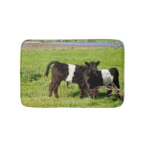 Baby Belted Galloway Cows In Country, Memory Foam Bath Mat