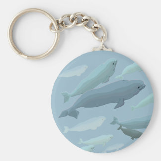 Baby Beluga Whale Keychain Whale Art Gifts