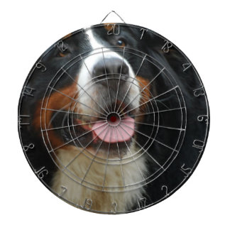 Baby Bernese Mountain Dog Dartboard With Darts