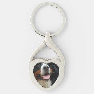 Baby Bernese Mountain Dog Keychain