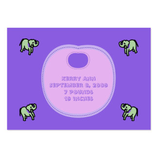 Baby Bib Birth Announcement Cards Large Business Card