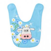 Baby Bib-Cow Baby Bib
