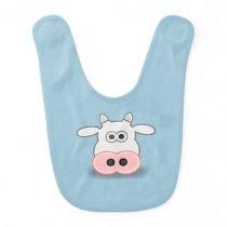 Baby Bib-Cow Bib