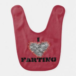 baby bib i love farting