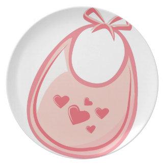 Baby Bib Dinner Plate